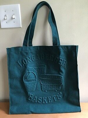 Longaberger Ivy Green Embossed Tote Bag