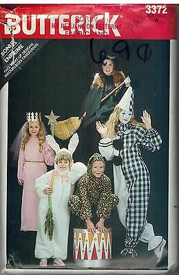 3372 Vintage Butterick Sewing Pattern Child's Loose Fitting Halloween Costumes 4
