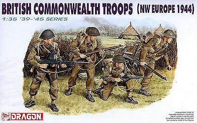 Dragon 1/35 6055 WWII British Commonwealth Troops (NW Europe 1944) (4 Figures)