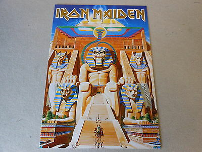 IRON MAIDEN post card in colour POWER SLAVE