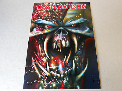 IRON MAIDEN post card  THE FINAL FRONTIER