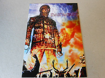 IRON MAIDEN post card  WICKERMAN