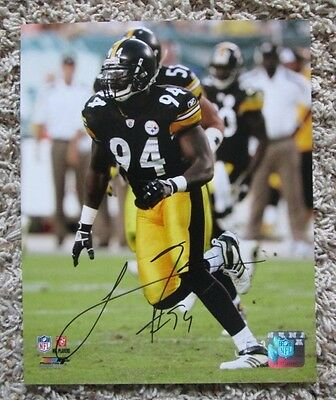 RARE LAWRENCE TIMMONS AUTO SIGNED 8 x 10 PHOTO PITTSBURGH STEELERS SWEET
