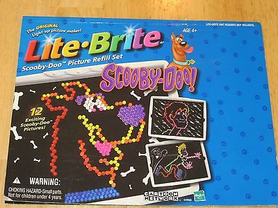Scooby Doo Lite Brite Picture Refill Pack  11 unused pictures