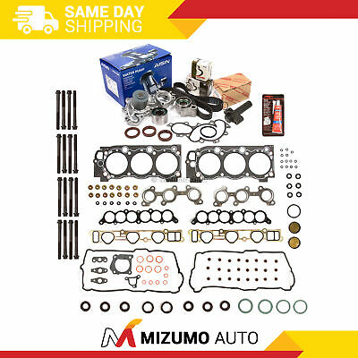 Head Gasket Set Timing Belt Kit AISIN Water Pump Fit 95-04 Toyota 5VZFE