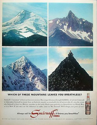 1965 Smirnoff Vodka Mt Hood Mt Washington Mt Russell Mt Smirnoff Breathless ad
