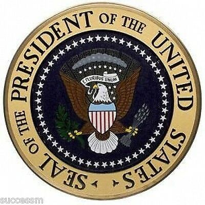 Presidential Seal Handcrafted Mahogany Plaque  In Stock - USA Shipped