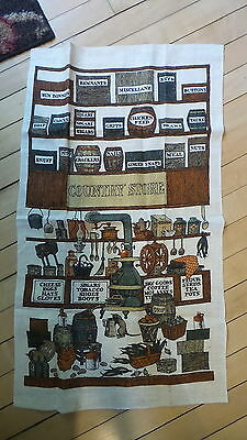 Vintage Linen Towel COUNTRY STORE ITEMS Nice!