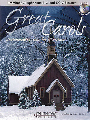 Great Carols Trombone Solo Christmas Sheet Music Play-Along Book CD Pack NEW