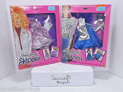 1986 Barbie's Jewel Secrets Sipper And Whitney Fashions