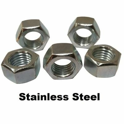 """Qty 50 Stainless Steel Finished / Finish Hex Nuts 1/4""""-20"""