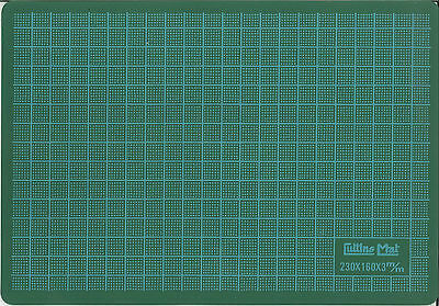 Green A5 Crafts Cutting Slicing Knife Mat Board Printed Grid Lines 160x230mm C5
