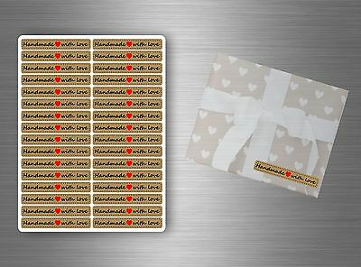 32/64/96/128  x sticker aufkleber scrapbooking handmade with etiketten love
