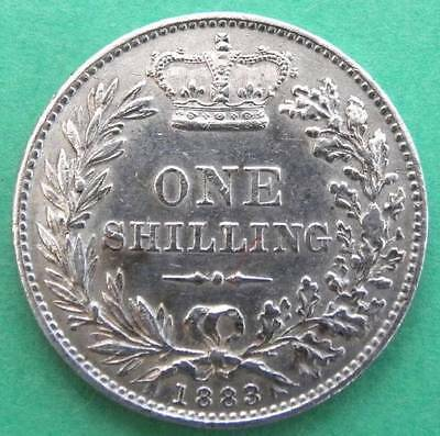 1883 - Victoria - Shilling - Young Head - EF - SN8095