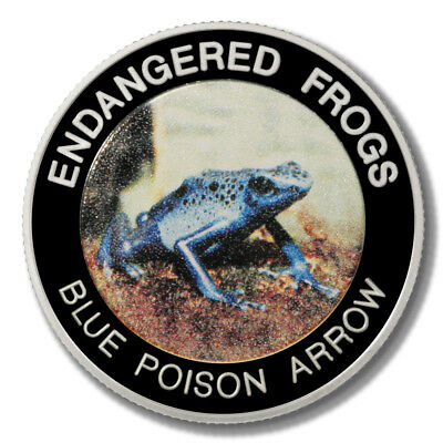 Malawi Endangered Frogs Blue Poison Arrow Frog 10 Kwacha 2010 Proof Colored Coin