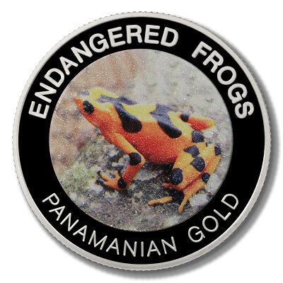 Malawi Endangered Frogs Panamanian Gold Frog 10 Kwacha 2010 Proof Colored Coin