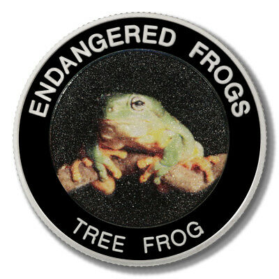Malawi Endangered Frogs Tree Frog 10 Kwacha 2010  Proof Colored Coin
