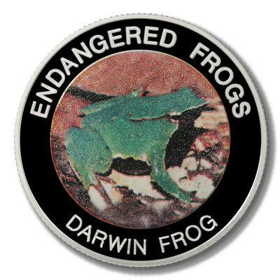 Malawi Endangered Frogs Darwin Frog 10 Kwacha 2010  Proof Colored Coin