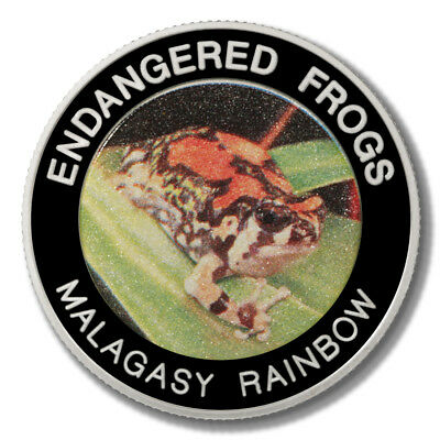 Malawi Endangered Frogs Malagasy Rainbow Frog 10 Kwacha 2010 Proof Colored Coin