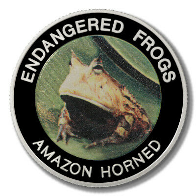 Malawi Endangered Frogs Amazon Horned Frog 10 Kwacha 2010 Proof Colored Coin