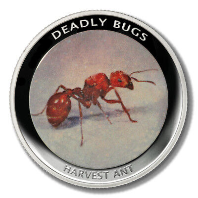 Zambia Deadly Insects Red Harvester Ant 1000 Kwacha 2010 Proof Colored Coin