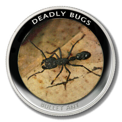 Zambia Deadly Insects Bullet Ant 1000 Kwacha 2010  Proof Colored Coin