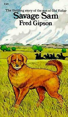 Savage Sam by Fred Gipson (English) Paperback Book Free Shipping!