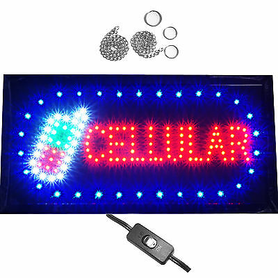 Bright Animated Cellular Mobile Cell Phone Store Repair Shop LED Open Sign 19x10