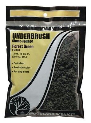 Woodland Scenics Underbrush Clump Foliage Forest Green FC138