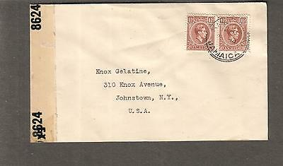 Jamaica WWII examiner 8624 censor cover Wexford Road Vineyard Pen to USA