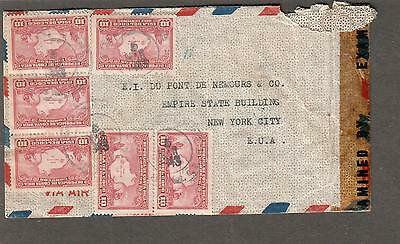 Costa Rica Mar 1943 WWII US examiner 2144 San Antonio TX censor cover to USA