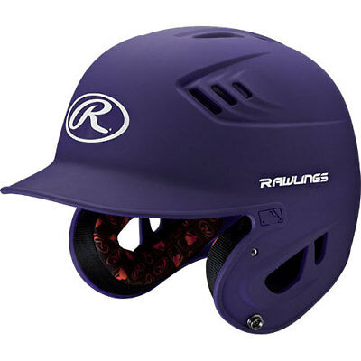 Rawlings R16 R16S-PU Senior (6 7/8 - 7 5/8) Metallic Purple Batting Helmet