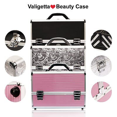 Valigetta Make Up Beauty Case Trolley Nail Art Valigia Porta Trucco Cofanetto