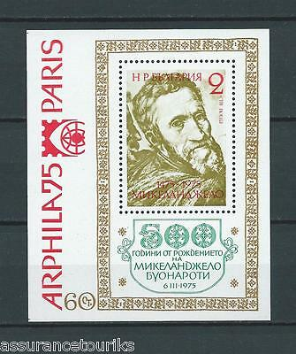 Bulgarie Bloc - 1975 Yt 53 - Timbres Neufs** Luxe