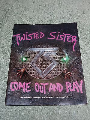 TWISTED SISTER come out and play 1985 World Tour Programme!