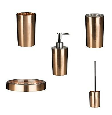Rodica antique copper bathroom accessories set tumbler for Rose gold bathroom accessories sets