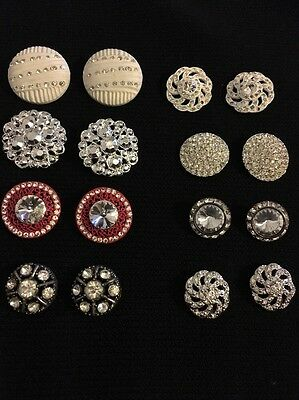 Lot Of 16 PCS Vintage Assorted Rhinestone Buttons