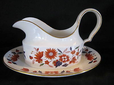 Spode - BARODA - Gravy Boat & Attached Stand - BRAND NEW