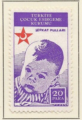 TURKEY;  1942 early Child Welfare issue fine Mint hinged 20pa. value