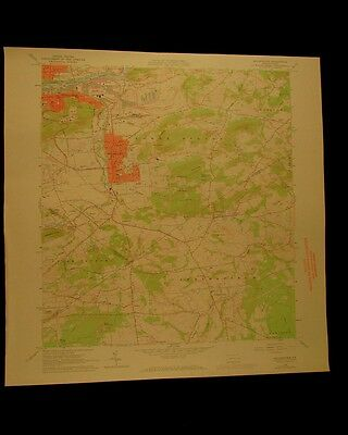 Hellertown Pennsylvania vintage 1972 original USGS Topographical chart