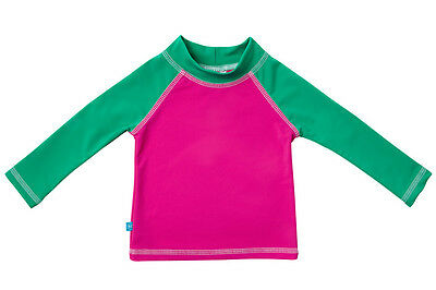 NWT Honest Baby Infant Girl's M 6-12 Month Pink Rash Guard Long Sleeve 6/12