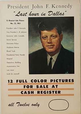 "John F Kennedy Assassination ""Last Hour in Dallas""  Poster"