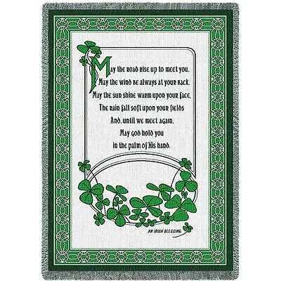 Irish Blessing II ~ St. Patrick's Day Tapestry Afghan Throw