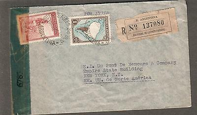 Argentina Latin America 1942 Wwii Examined By 6703 New York Censor Cover Argentina Buenos Aires To Ny