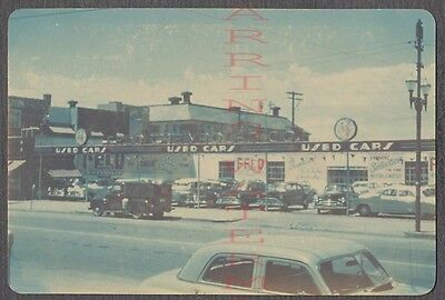 Vintage Photo 1950s Chevrolets Used Car Lot Chevy Dealership Kansas City  683844