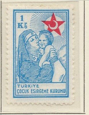 TURKEY;  1940 early Child Welfare issue fine Mint hinged 1k value