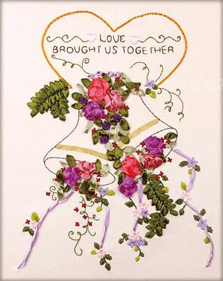 Ribbon Embroidery Kit Love Brought Us Together Needlework Craft Kit XZ1059