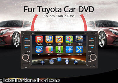 "6.5"" Car Stereo DVD Player Radio FM GPS SAT NAV Navigation Free Map for Toyota"