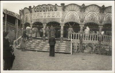 Merry-Go-Round Carousel Amusement Park Codona's Waltzer Real Photo Postcard