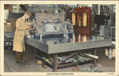 Caterpillar Factory Peoria IL Tractors Machine Shop Worker Manufacturing LINEN